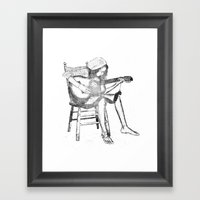 Musical Solitude Framed Art Print