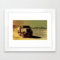 Truck In The Desert Framed Art Print