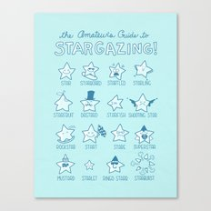 The Amateur's Guide to Stargazing Canvas Print