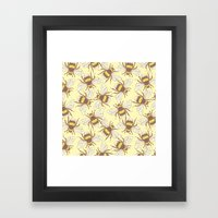 Bees! Framed Art Print