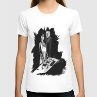 1rst Doctor & Susan... Womens Fitted Tee White SMALL