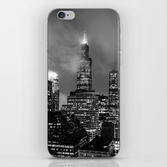 Foggy Chicago Night iPhone & iPod Skin