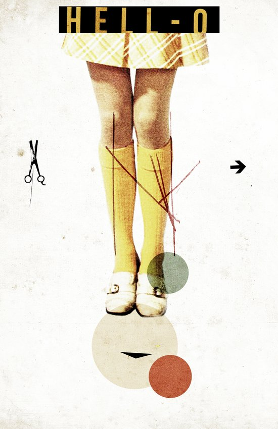 Cut The (...) | Collage Canvas Print