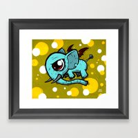 Evil Elefly Framed Art Print