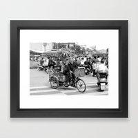 go green! Framed Art Print