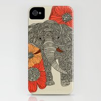 iPhone 4s & iPhone 4 Cases featuring The Elephant by Valentina Harper