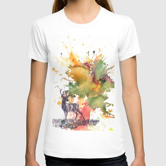 Buck Deer in Splash of Color T-shirt