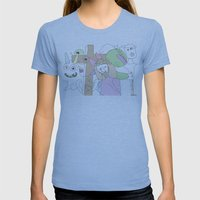 Funland 3 Womens Fitted Tee Athletic Blue SMALL