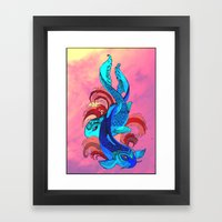 A Tale Of Two Fins. Framed Art Print