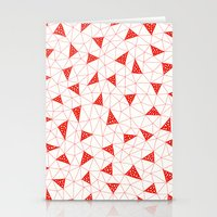 Red Tiangles Stationery Cards