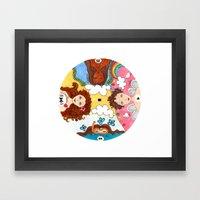 circle Framed Art Print