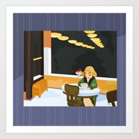Automat By Hopper Art Print