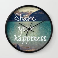 Share your happiness Wall Clock