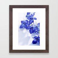 POEM AND FLOWER Framed Art Print