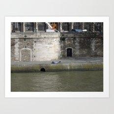 Naptime in Paris Art Print