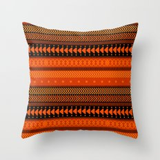 Under the Volcano - tribal geometrics Throw Pillow