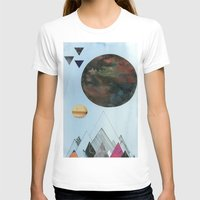 Moons and Mountains Womens Fitted Tee White SMALL