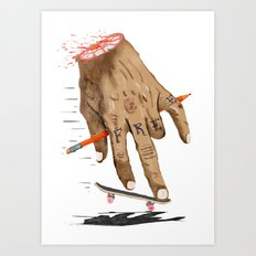 FREE HAND Art Print