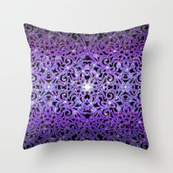 Floral Abstract Backgrou… Throw Pillow