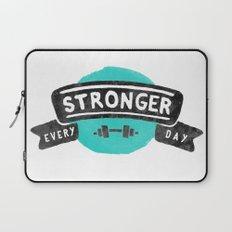 Stronger Every Day (dumbbell) Laptop Sleeve