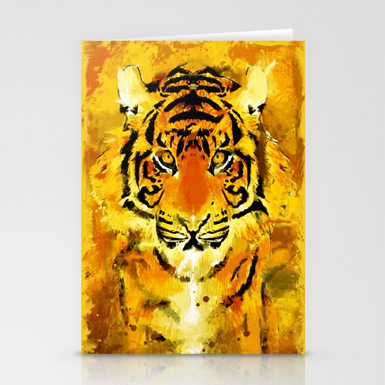 Tiger Stationery Card