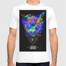 JAGUAR HOUSE SMALL White Mens Fitted Tee