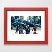 Avenger - Vengadores Framed Art Print