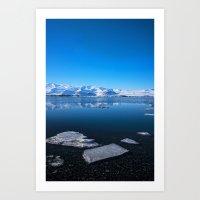 Ice lagoon 3 Iceland Art Print