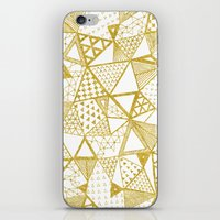Golden Doodle Triangles iPhone & iPod Skin