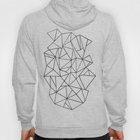 Abstract Outline Black O… Hoody