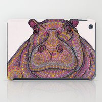 Hippie-Potamus (Pink) iPad Case