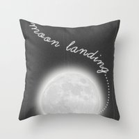 Moon Landing! Throw Pillow