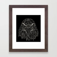 Lined Eagle Framed Art Print