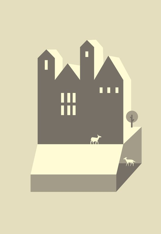 Small houses Art Print