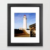 Cape Nelson Lighthouse & Keepers Quarters Framed Art Print