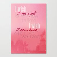Simple Words Canvas Print