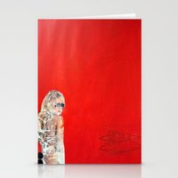 RED GIRL Stationery Cards