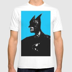 Dark Knight White Mens Fitted Tee SMALL