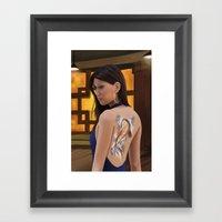 Koi Girl Framed Art Print