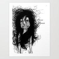 Manic Hair Moments Art Print