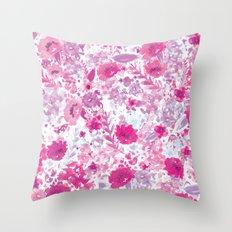 Floral Fuchsia Throw Pillow