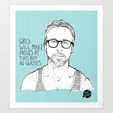 Hey Girl, The Gosling Art Print