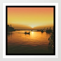 Sunset Haven Art Print