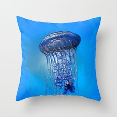 Jelly in the Blue Throw Pillow