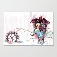 Cuckoo's Nested Fear Canvas Print