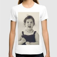 Funny Womens Fitted Tee White SMALL