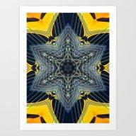 Guitar Kaleidoscope Art Print