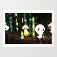 Illuminated Panda Incident Art Print