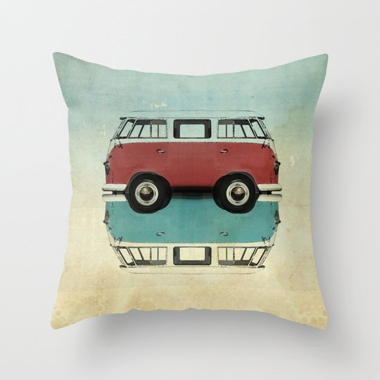 Kombi all fronts  Throw Pillow