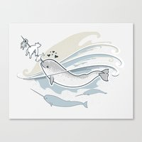 The Friendly Narwhal Canvas Print